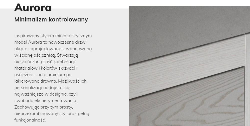 Opisy produktów - portfolio copywritera. Skle p z drewnianymi drzwiami