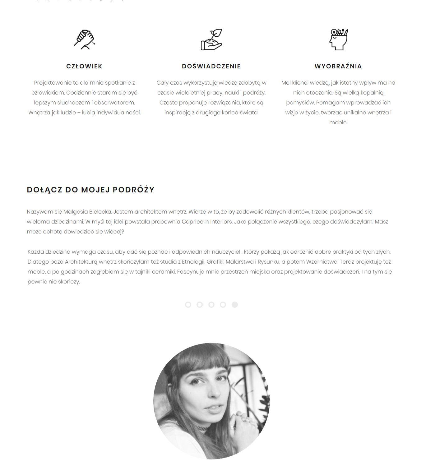 Tekst na stronę www dla pracowni architektonicznej - portfolio copywritera
