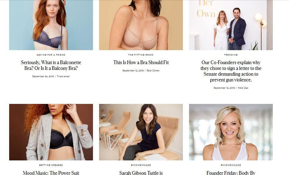 Thirdlove - firmowy blog marki odzieżowej