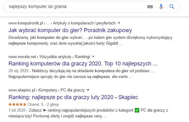 jak działa Google - wyszukiwanie kontekstowe