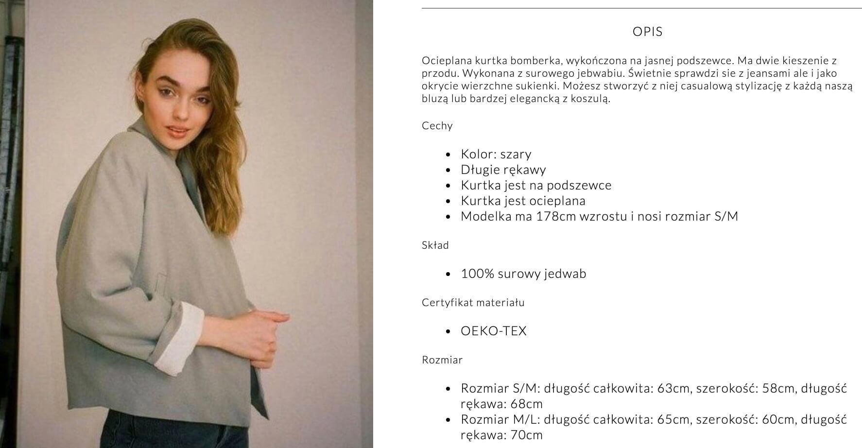 theodderside - jak pisać opisy produktów ubrań